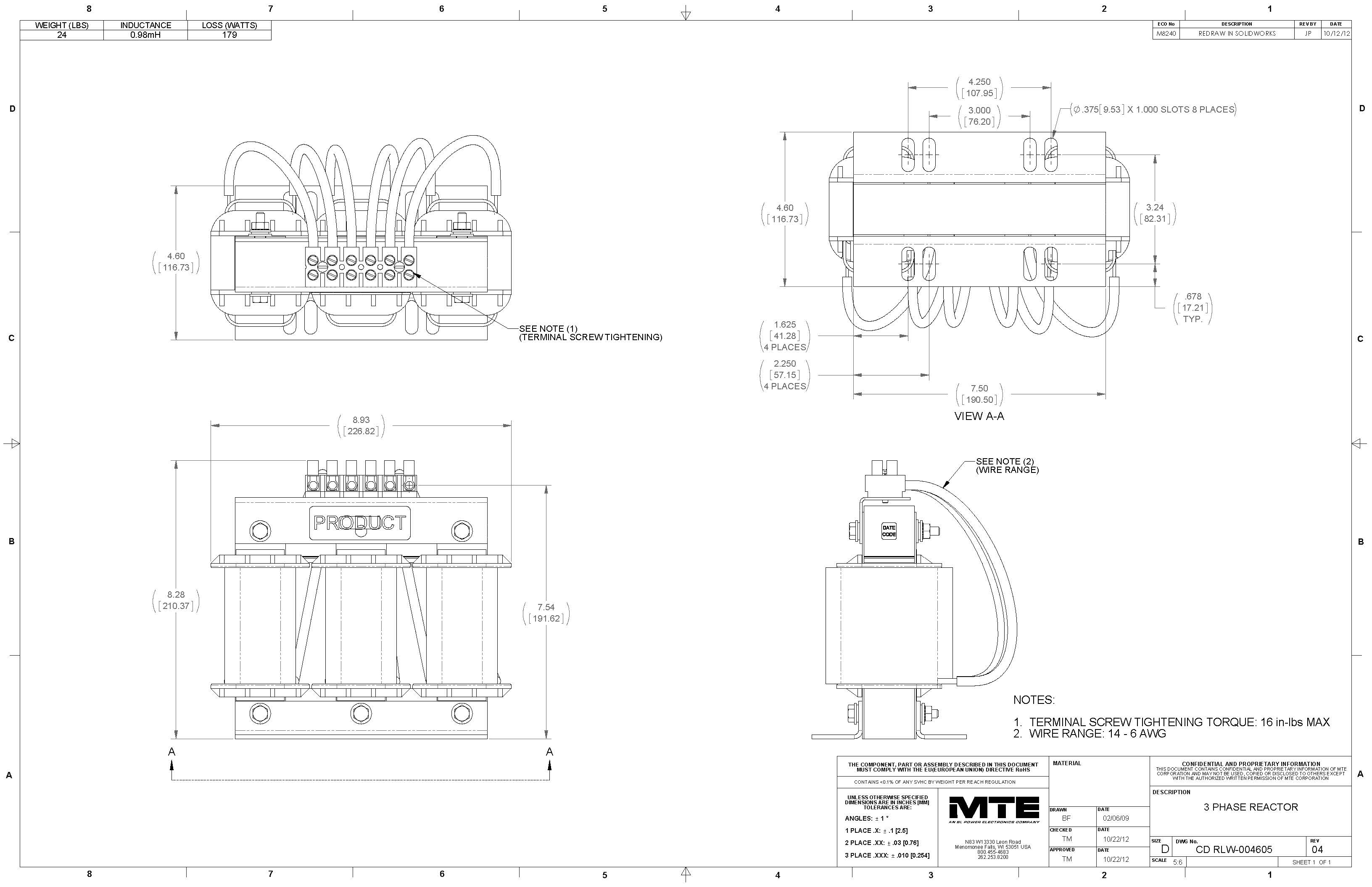 Image of an MTE Reactor RLW-004605