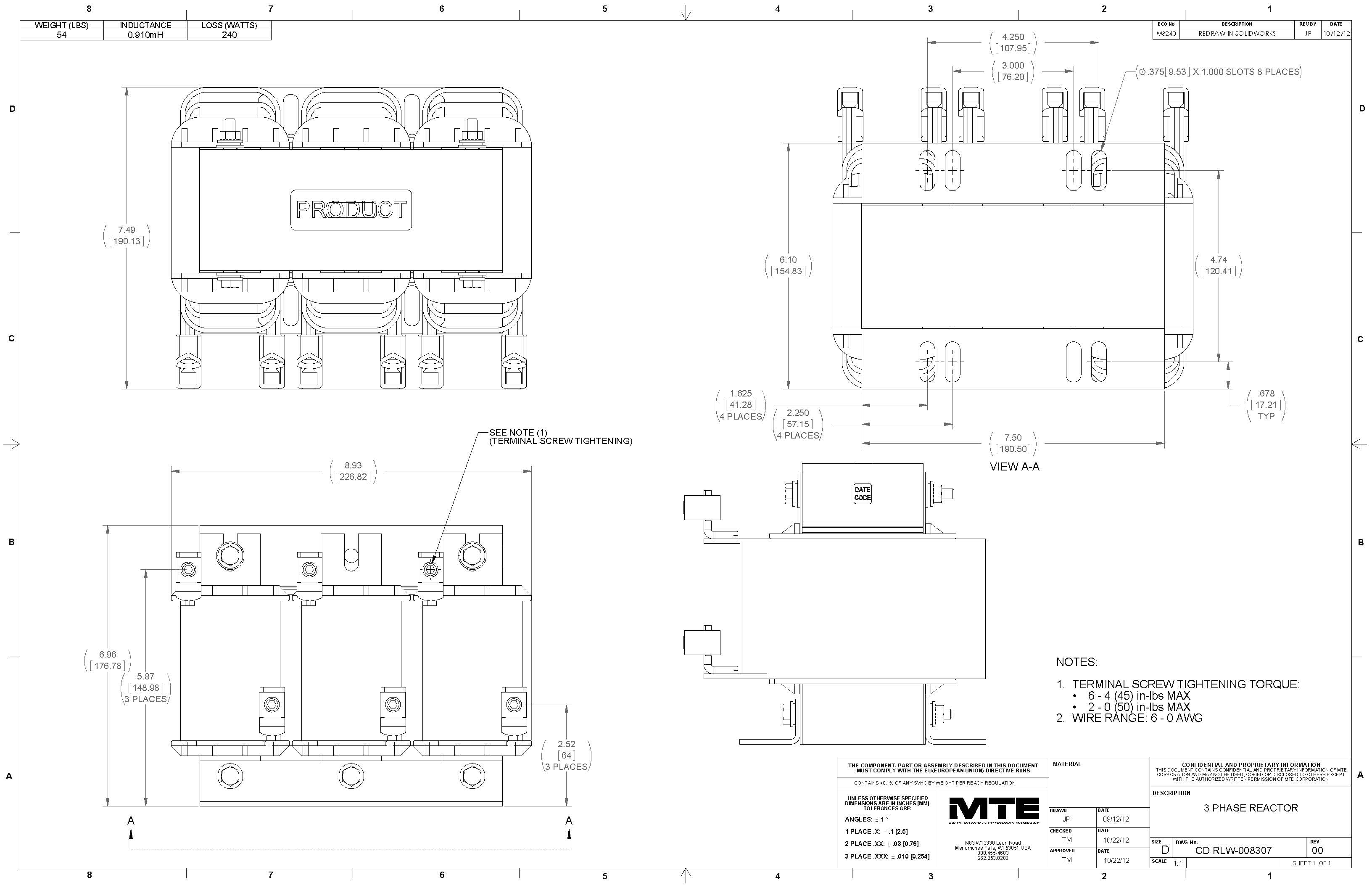 Image of an MTE Reactor RLW-008307