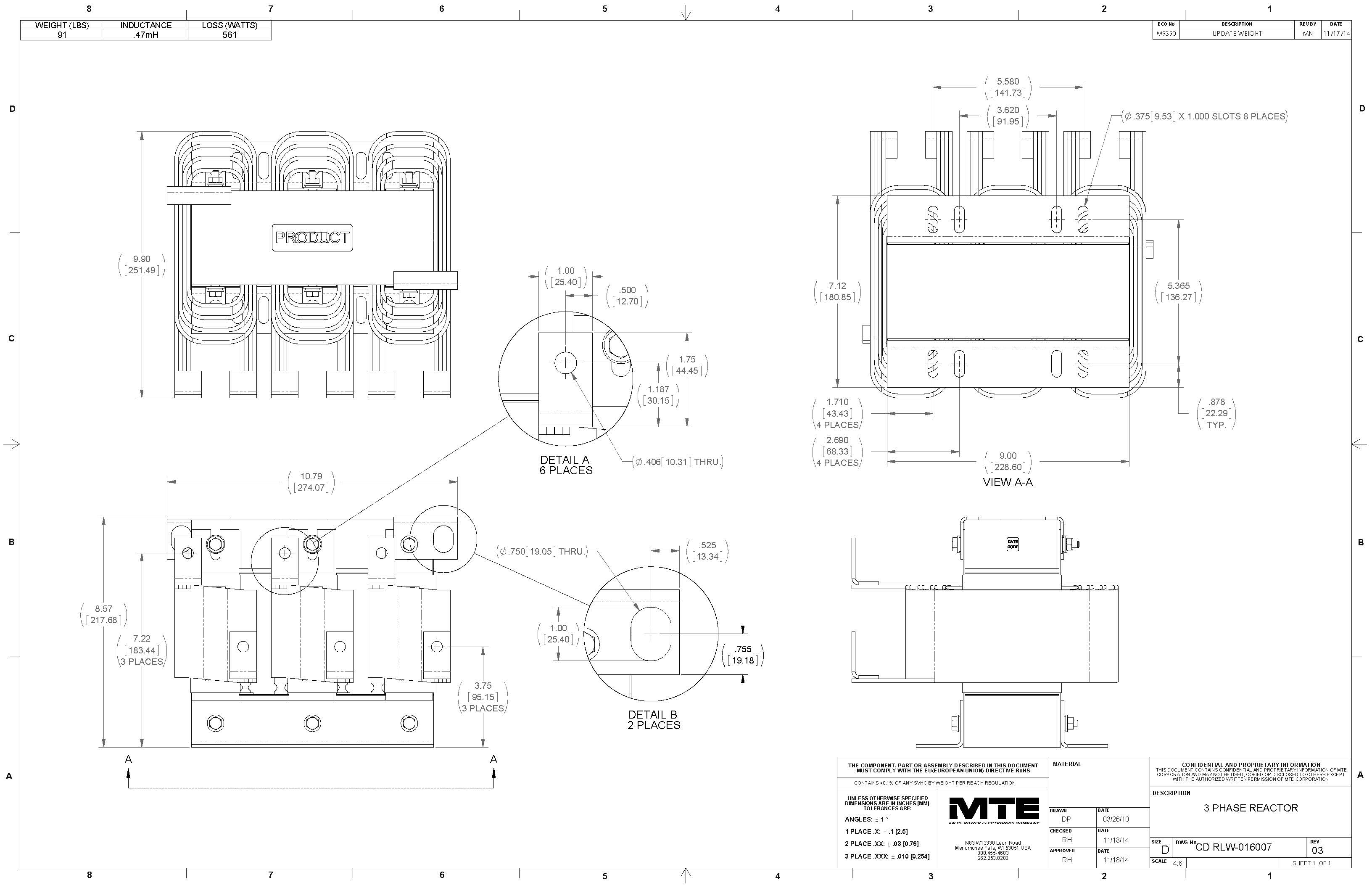 Image of an MTE Reactor RLW-016007