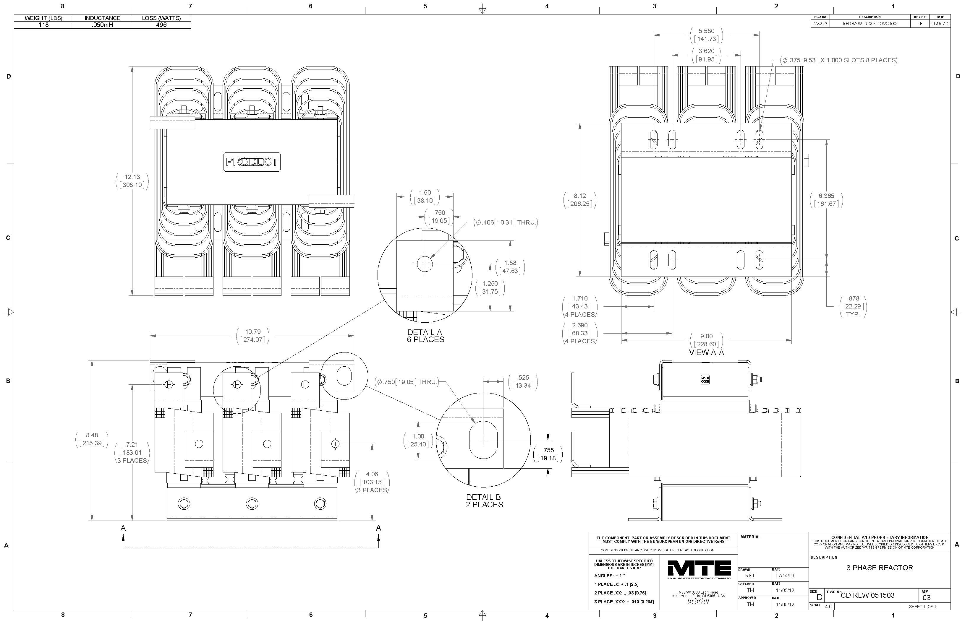 Image of an MTE Reactor RLW-051503
